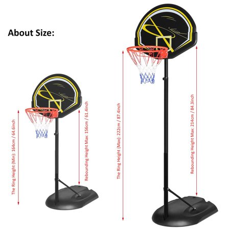 New Adult Youth Indoor Outdoor Basketball Hoop Portable