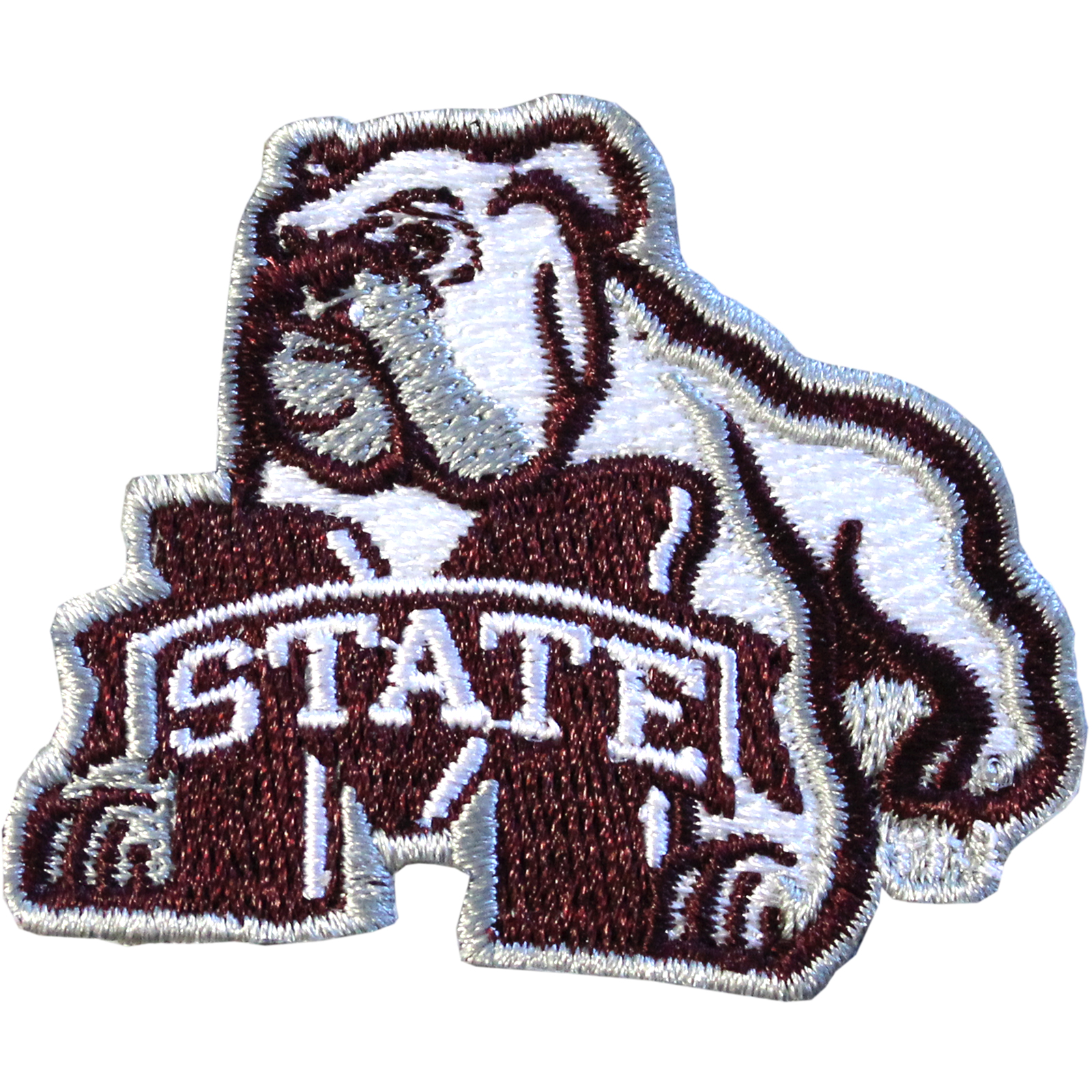 """Mississippi State Bulldogs NCAA Bulldog Iron On Embroidered Patch 1.5"""" x 2"""""""