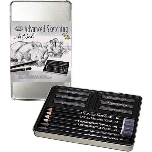 Advanced Sketching Art Set W/Tin