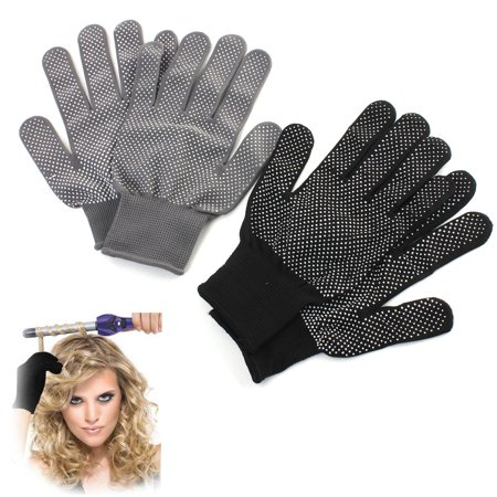 2Pcs Heat Resistant Curling Gloves Double-sided Use for Hair Curler, Flat Iron, protectivefingerglove Hair