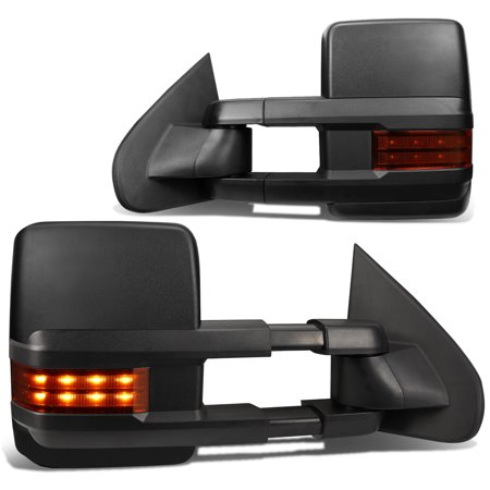 For 2003-2006 Chevy/GMC Silverado/Sierra Powered Tow Mirrors Amber LED Turn Signal Lights
