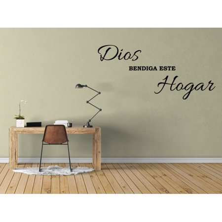 Vinilo Decorativo Para Pared Dios Bendiga Este Hogar Wall Stickers Decal SQ6