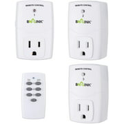 BN-LINK Wireless Remote Control Outlet (1 Remotes + 3 Outlets) Value Pack