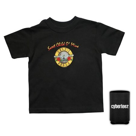 Guns N Roses Sweet Child Of Mine Bullet Seal Logo Kids Child Toddler T-Shirt + Coolie