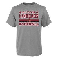 MLB Arizona DIAMOND BACKS TEE Short Sleeve Boys OPP 90% Cotton 10% Polyester Gray Team Tee 4-18