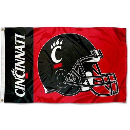 Cincinnati Bearcats Football Helmet 3' x 5' Pole Flag