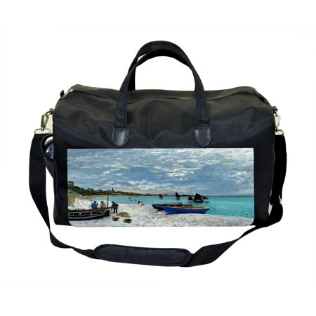 Claude Monet's Sailboats  Large Black Duffel Satchel Style Therapy Supplies / Therapist's - Sailboat Supplies