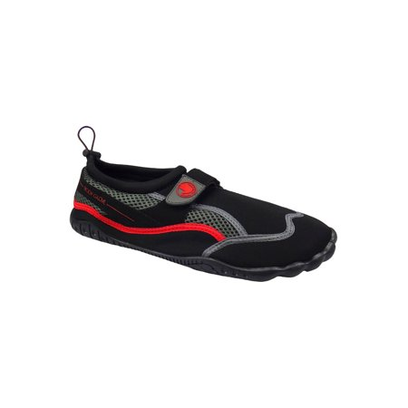 Mens Vapor Glove Shoes - Body Glove Mens Seek Water Shoe (Black/Fiery Red, 10)