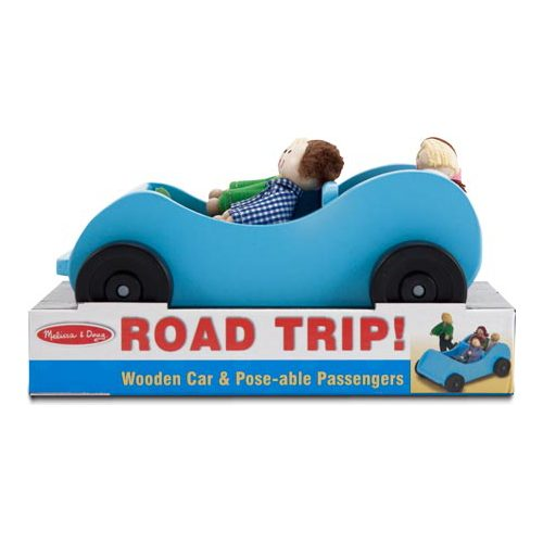 Children's Melissa & Doug Road Trip! Wooden Car & Posable Passengers