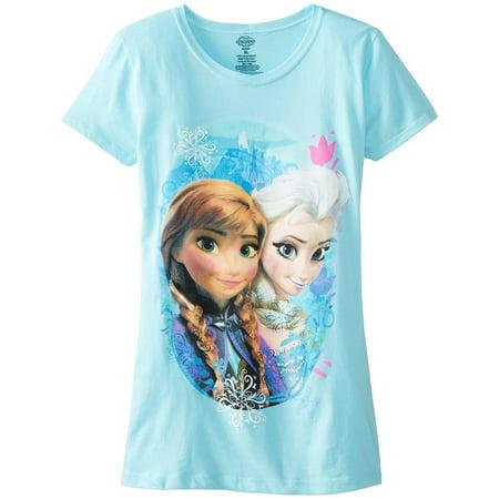 Frozen - Elsa and Anna Scene Girls Juvy T-Shirt - Elsa T Shirt