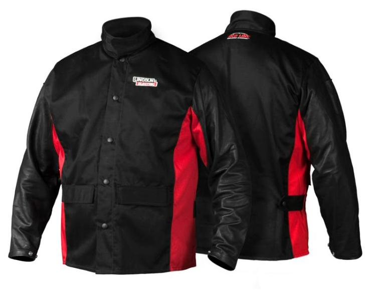 Lincoln Electric K2987 Shadow Grain Leather Sleeve Welding Jacket, 2X-Large by Lincoln Electric