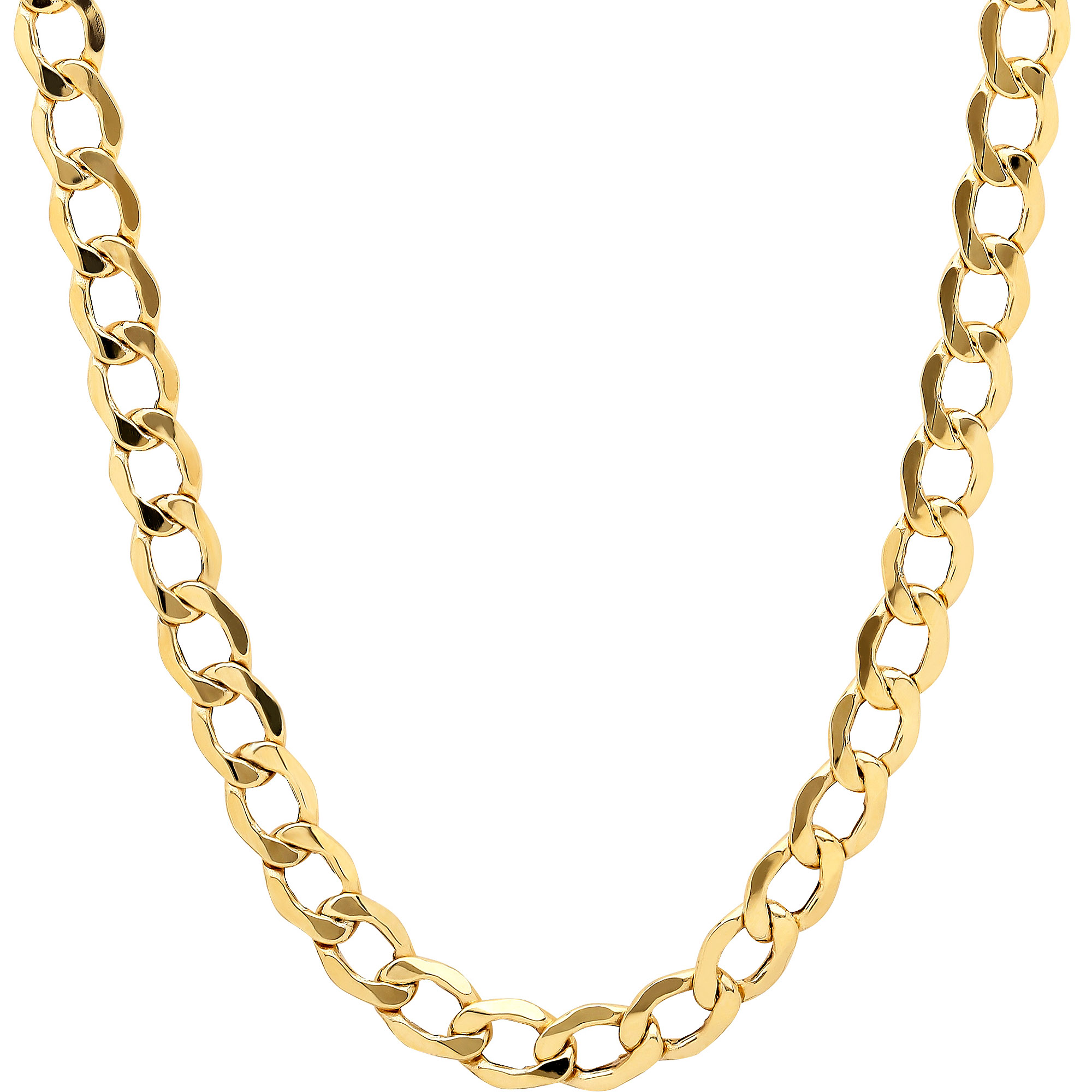 Simply Gold 10kt Yellow Gold Curb Chain