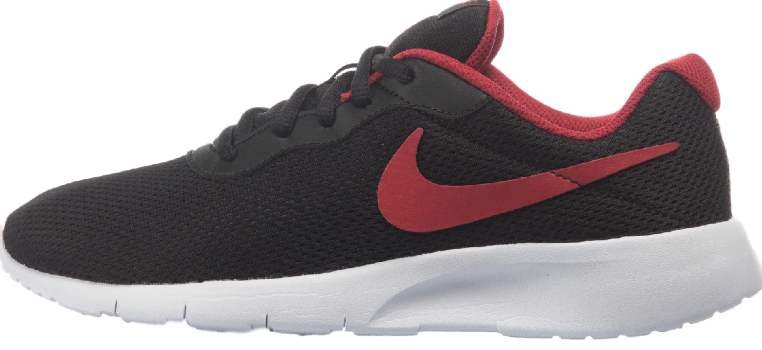 Nike 818381-010 : Boy's Tanjun GS Running Shoes Black/Red