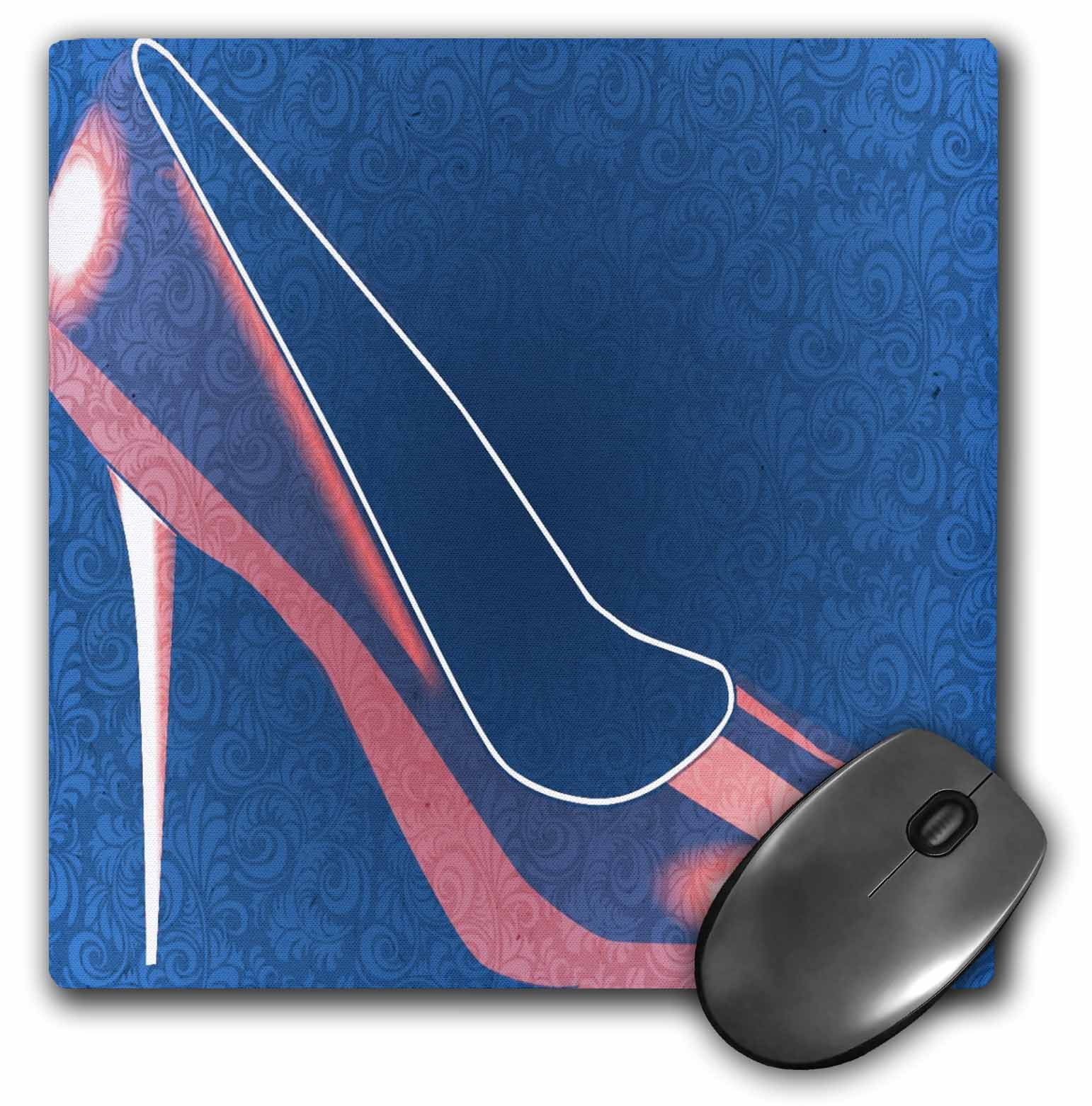 Image of 3dRose Decorative Red Shoe - High Heel - Womens Fashion, Mouse Pad, 8 by 8 inches