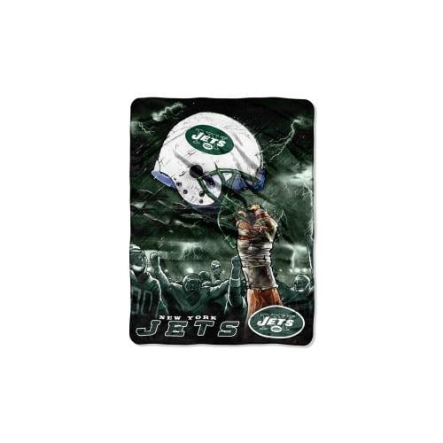 "New York Jets 60""x80"" Royal Plush Raschel Throw Blanket - Sk"