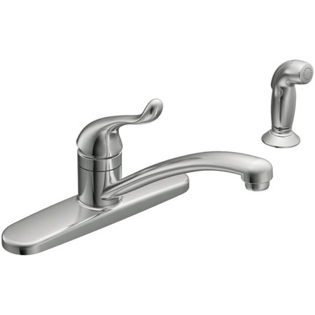 Moen CA87530 Chrome Touch Control 1-Handle Low Arc Kitchen Faucet Control Four Hole Kitchen Faucet
