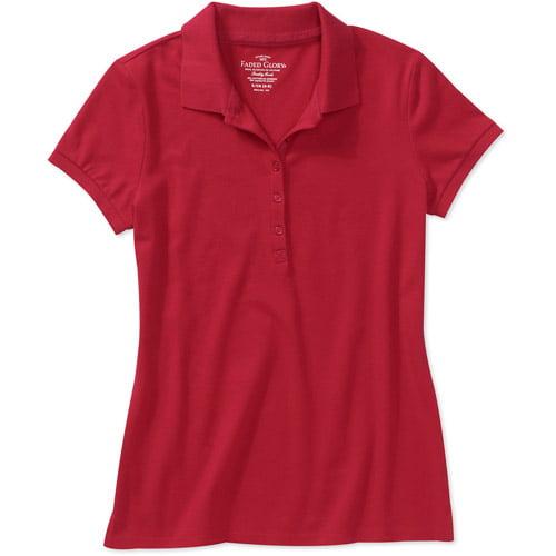 Faded Glory Women's Plus-Size Knit Polo Shirt