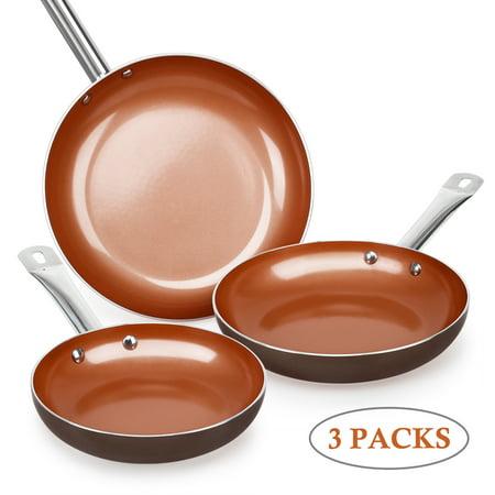 SHINEURI Nonstick Ceramic Copper Pan Set - 8