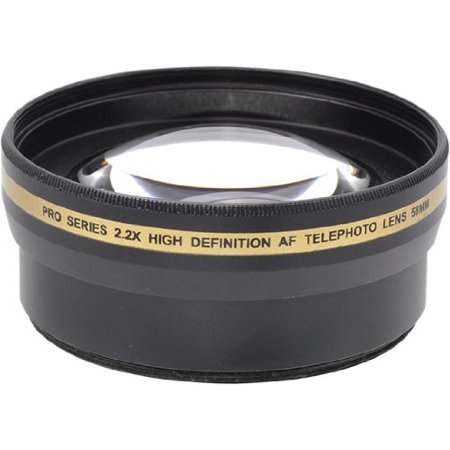 Pro Series 58mm 0.43x Wide Angle Lens + 2.2x Telephoto Lens with Deluxe Lens Accessories Kit for Most Cameras Models + eCostConnection Microfiber - image 2 de 5