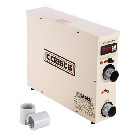 VEVOR 11KW 220V Pool Heater Thermostat Swimming Pool SPA Hot Tub covid 19 (White Wading Pool coronavirus)