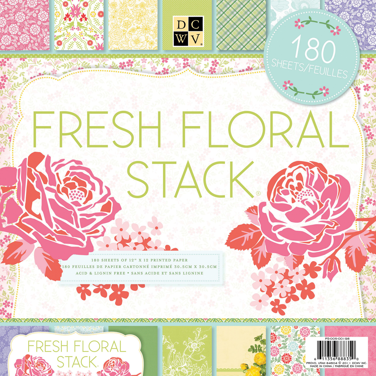 Diecuts With A View Fresh Floral Paper Stack, 180 Sheets