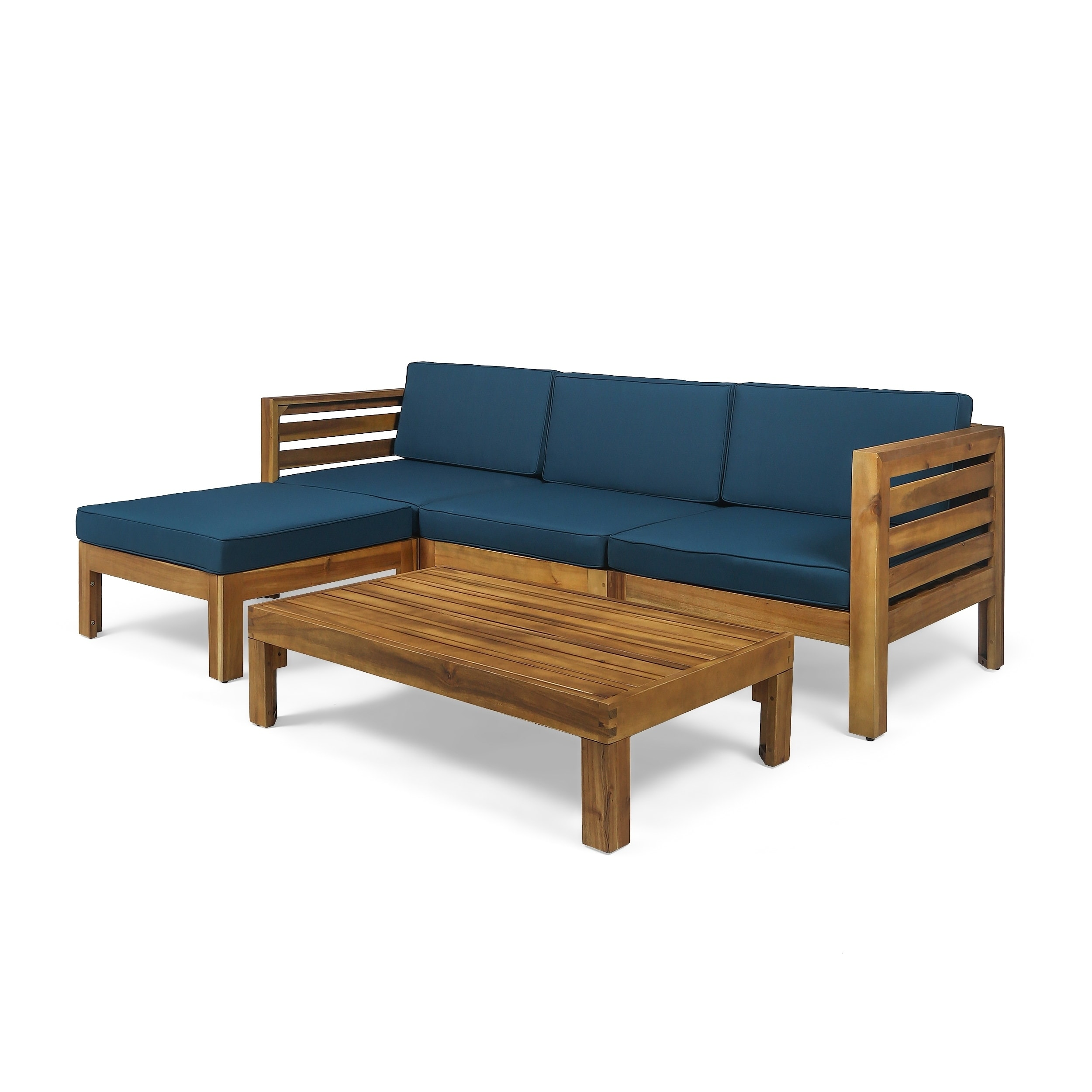 Christopher Knight Home Cambridge Outdoor 5 Piece Acacia Wood Sofa Set by