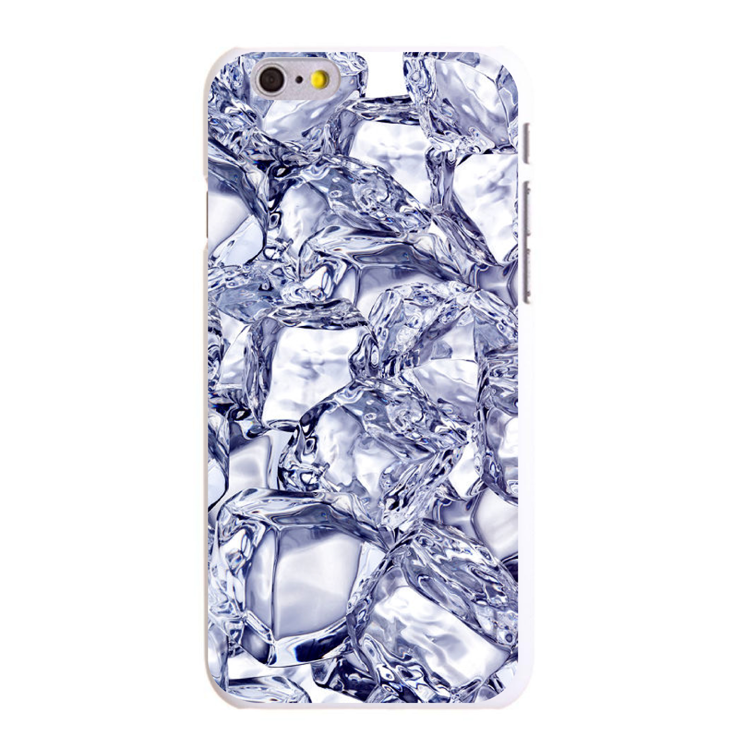 "CUSTOM White Hard Plastic Snap-On Case for Apple iPhone 6 / 6S (4.7"" Screen) - Crystal Clear Ice"