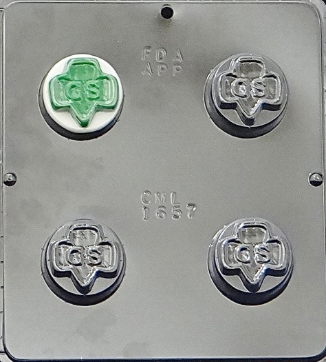 1657 Girl Scout Oreo Cookie Chocolate Candy Mold by