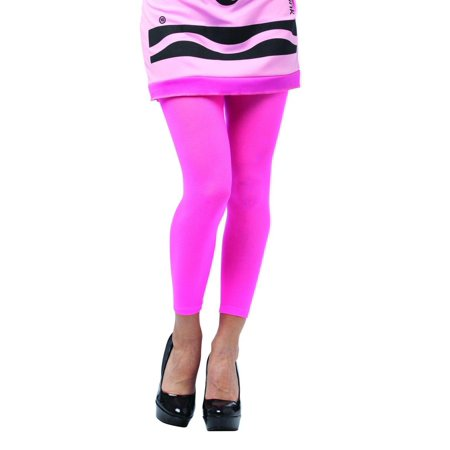 Crayola Tickle Me Pink Footless Tights Costume Accessory Adult One - Crayola Tickle Me Pink