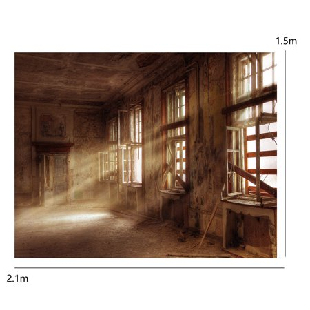 5ft X 7ft Vinyl Photography Background Screen Backdrop Retro Ruins Factory Cameras For Studio photography backdrops Photo Prop - image 2 de 4