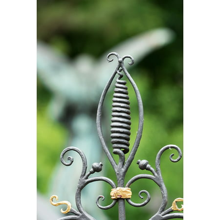 Canvas Print Wrought Iron Goal Gilded Cemetery Detail Grave Stretched Canvas 10 x 14