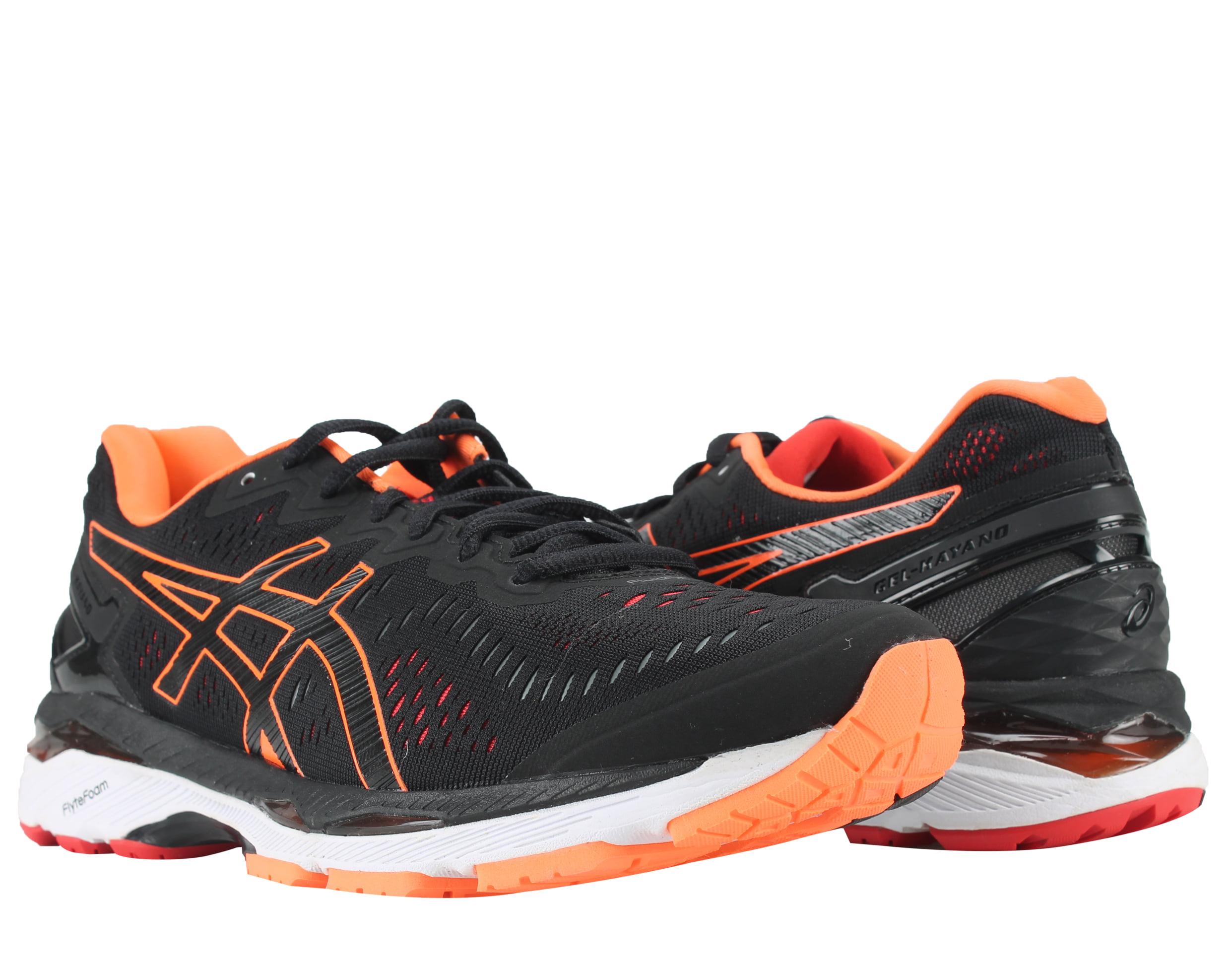 Asics Gel-Kayano 23 Black Hot Orange Vermilion Men's Running Shoes T646N-9030 by
