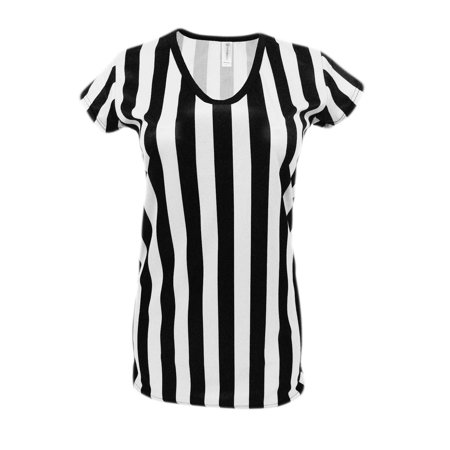 Womens Referee Shirt Comfortable V-Neck Ref Shirt for Waitresses, Refs, Costumes