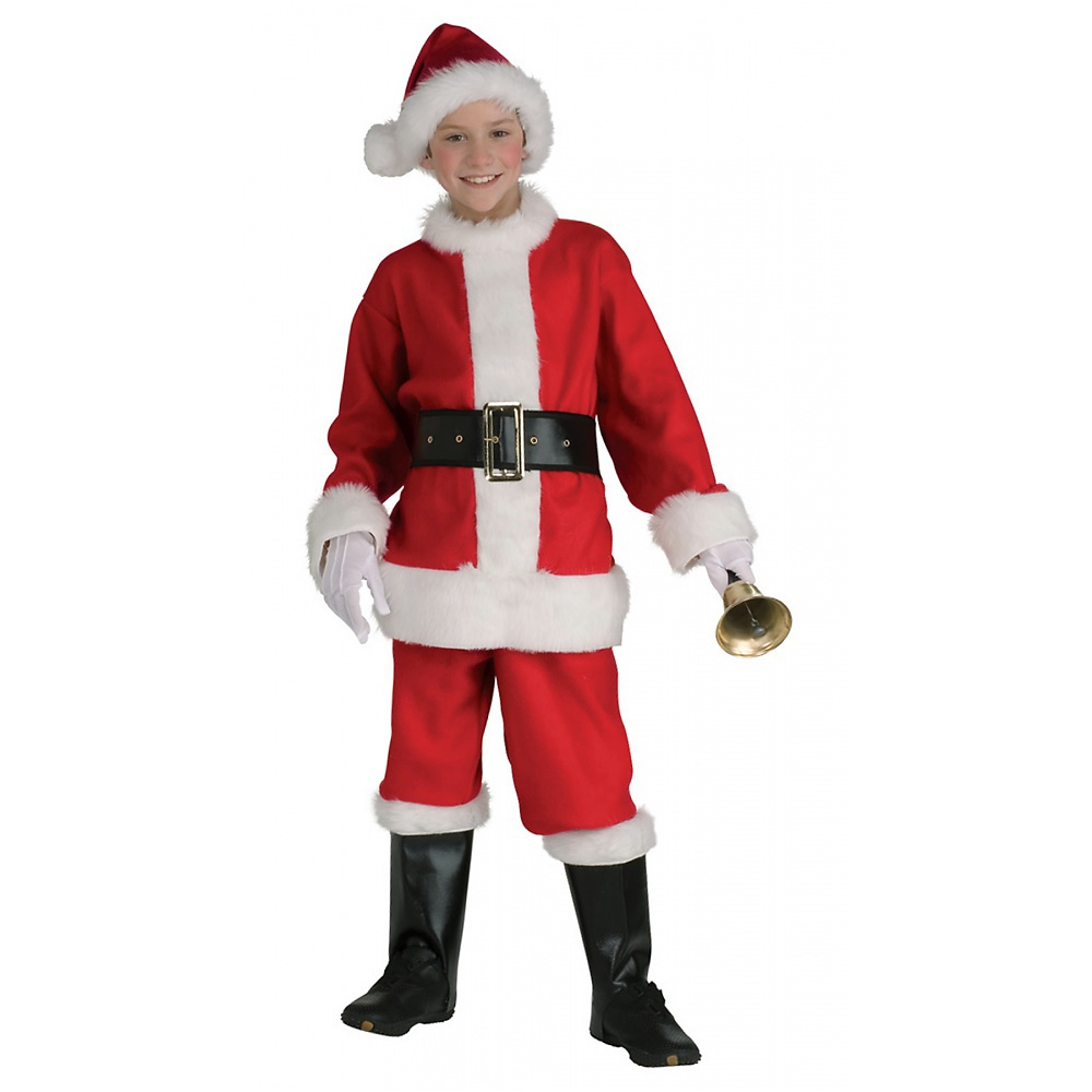 If you're little one admires Santa, then why not let him dress up as the jolly old elf on Halloween or Christmas with this Santa Boy Costume which consists of this red and white Santa suit romper, belt, Santa hat, and shoe covers.