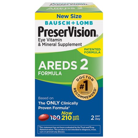Bausch & Lomb PreserVision® AREDS2 Formula Softgel, 210 Ct