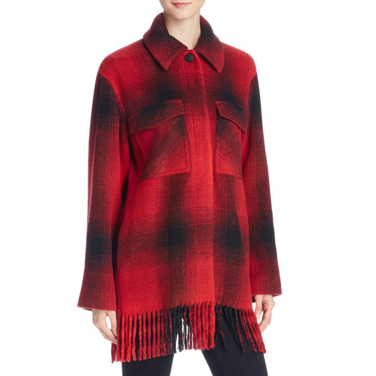 T by Alexander Wang Womens Wool Plaid Coat by Womens Wool Coats