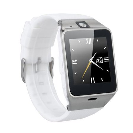 White Bluetooth Smart Wrist Watch Phone mate for Android Samsung HTC LG  Touch Screen with Camera