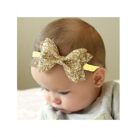 Directer Baby Girl Children Glitter Bowknot Headband Birthday Party Photo Props Head Band