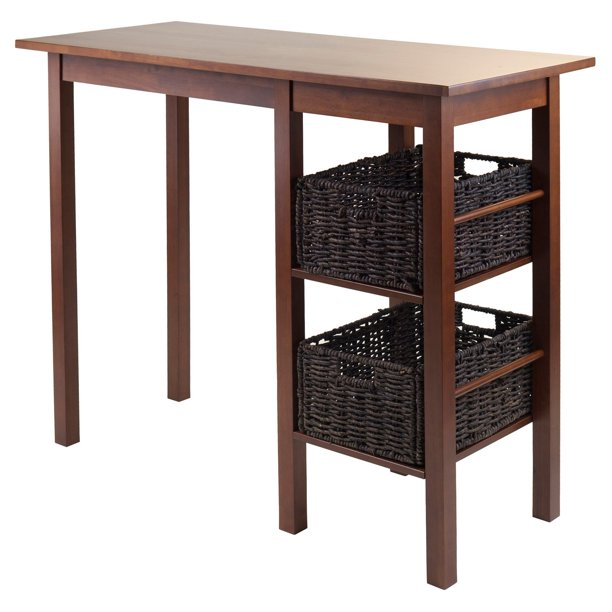 Winsome Wood Egan 3-Piece Breakfast Table Set, with 2 Baskets