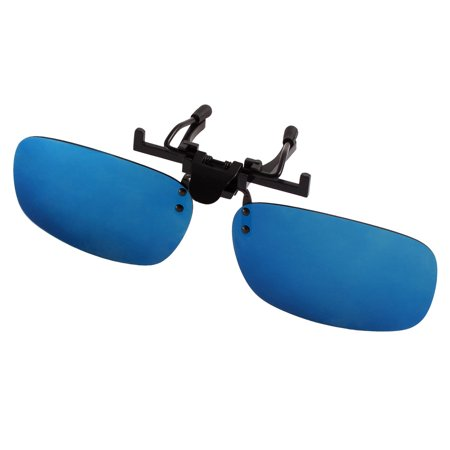 Unique Bargains Unisex Hiking Leisure Flip Up Clip On Polarized Sunglasses Yale Blue (Bargain Sunglasses)