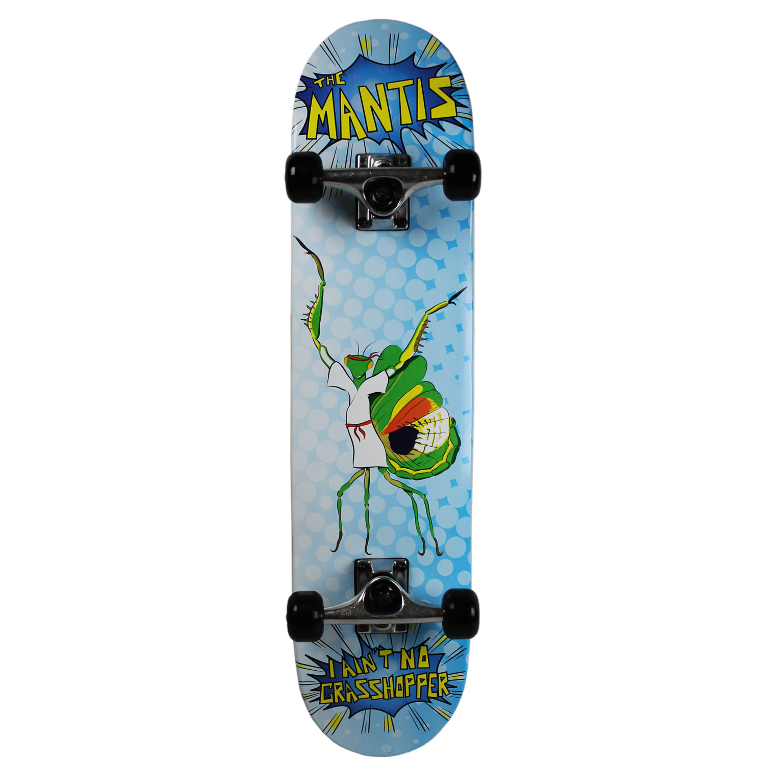 KROWN Skateboard SUPER BUG SERIES Youth THE MANTIS Blue 7.5""