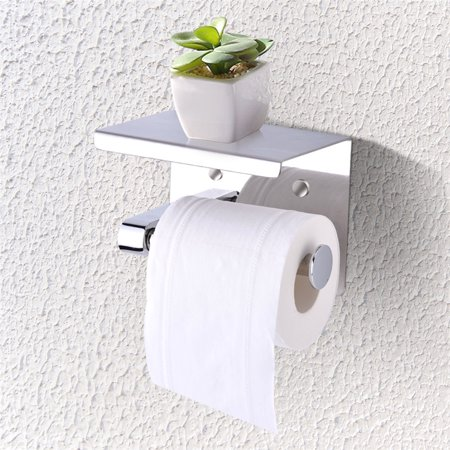 EECOO Wall Mounted Tissue Holder, SUS304 Stainless Steel Bathroom Toilet Paper - Bathroom Tissue Holder