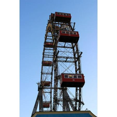 LAMINATED POSTER Fair Vienna Amusement Park Ferris Wheel Prater Poster Print 24 x 36 ()