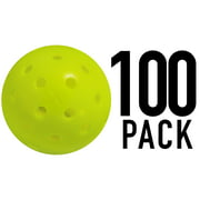 Franklin Sports Outdoor Pickleballs - X40 Optic Yellow Balls - 100 Pack