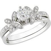 Round 5/8 Carat T.W. Diamond Bridal Ring Set in 10kt White Gold