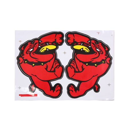 Car Auto Dog Pattern Exterior Decor Reflective Sticker Adhesive Decal - image 1 of 1