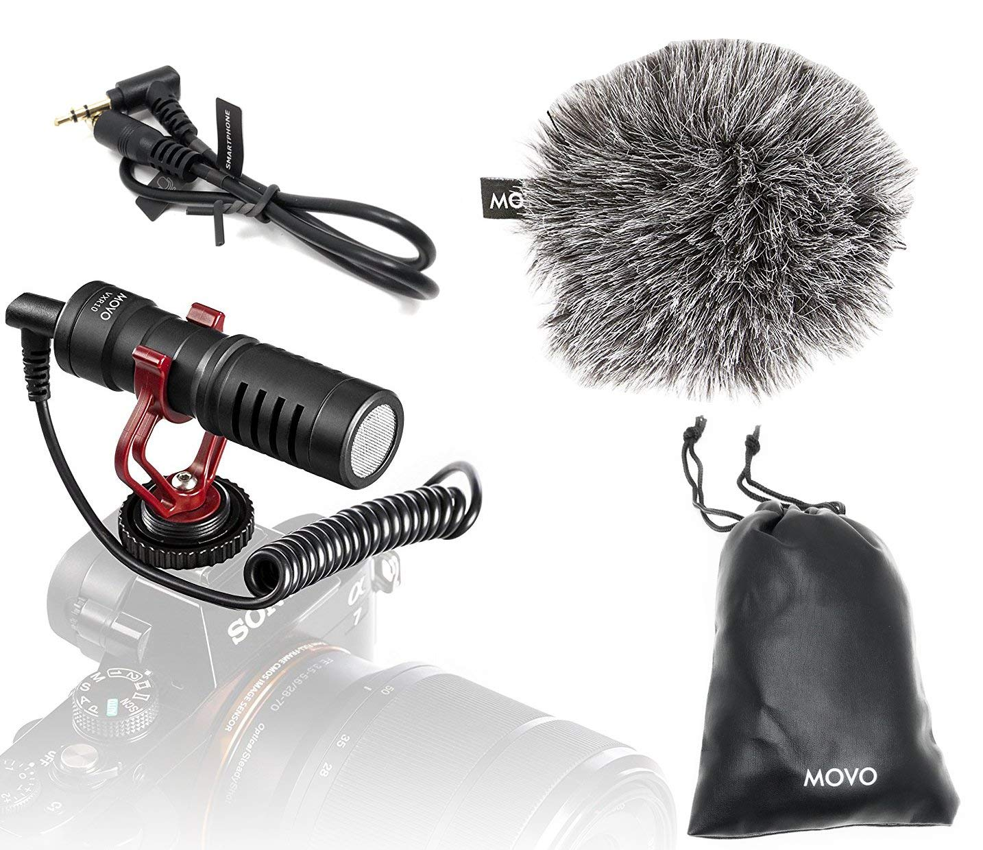 DSLR and Video with Dead Cat Wind Muff for High End Systems Stereo//NRS Professional Microphone for Canon EOS Rebel T4i