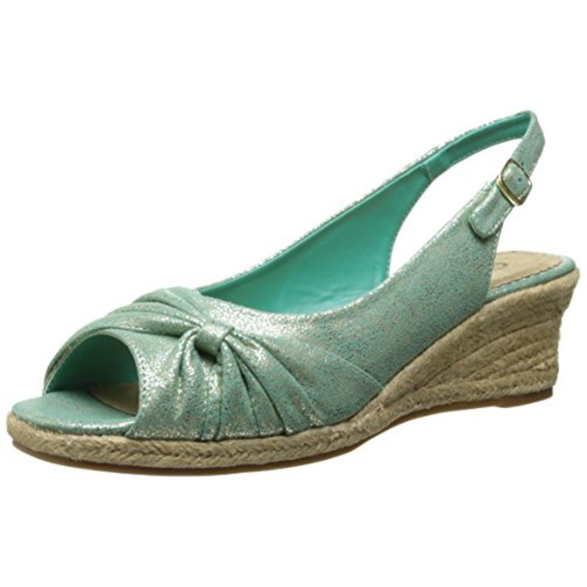 Bella Vita Womens Sangria Too Metallic Espadrille Wedge Sandals by Bella Vita