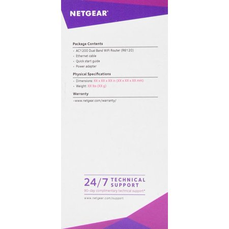 NETGEAR AC1200 Dual Band Smart WiFi Router, 5-port