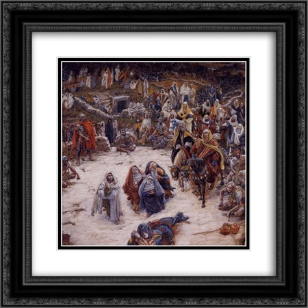 - James Tissot 2x Matted 20x22 Black Ornate Framed Art Print 'What Our Saviour Saw from the Cross'